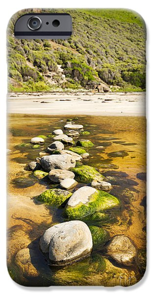 Fleurieu Peninsula iPhone Cases - Stepping Stones iPhone Case by Tim Hester