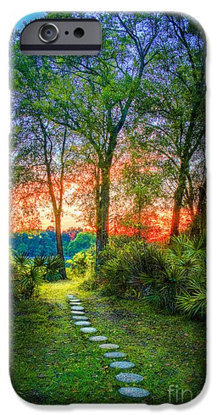 Stone Steps iPhone Cases - Stepping Stones to the Light iPhone Case by Marvin Spates
