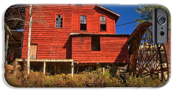 Grist Mill iPhone Cases - Stepps Grist Mill iPhone Case by Adam Jewell