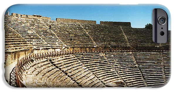 Ruin iPhone Cases - Steps Of The Theatre In The Ruins iPhone Case by Panoramic Images