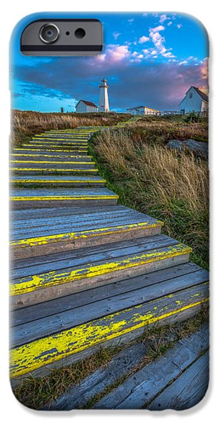 Lighthouses iPhone Cases - Steps to Cape Spear iPhone Case by Gord Follett