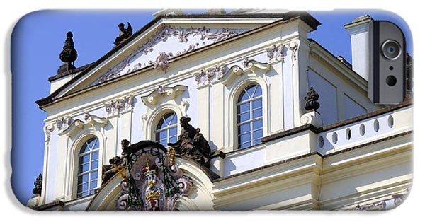 Charles River iPhone Cases - Sternberg Palace Facade iPhone Case by Brenda Kean