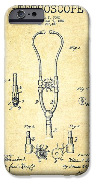 Recently Sold -  - Technical iPhone Cases - Stethoscope Patent Drawing From 1882 - Vintage iPhone Case by Aged Pixel