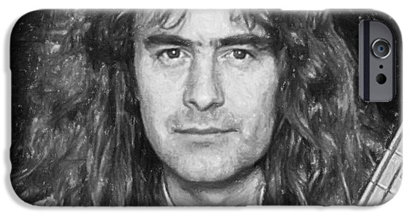 Bassist iPhone Cases - Steve Harris iPhone Case by Antony McAulay