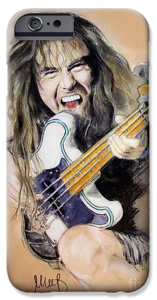 Bassist iPhone Cases - Steve Harris iPhone Case by Melanie D