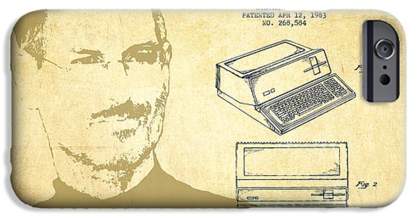 Technical iPhone Cases - Steve Jobs Personal Computer Patent - Vintage iPhone Case by Aged Pixel