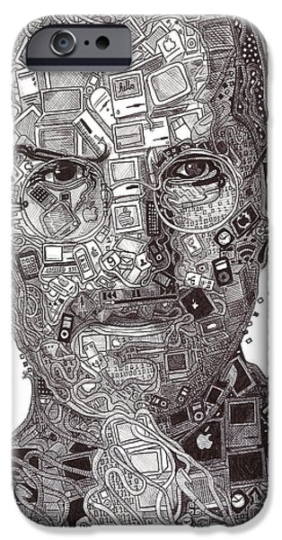 Recently Sold -  - Technology iPhone Cases - Steve Jobs iPhone Case by Serafin Ureno