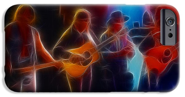 Gary Gingrich iPhone Cases - Steve Miller Band Fractal iPhone Case by Gary Gingrich Galleries