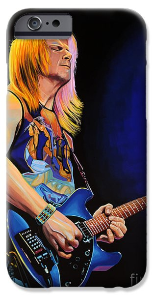 Hard iPhone Cases - Steve Morse iPhone Case by Paul  Meijering