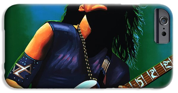 Passion iPhone Cases - Steve Vai iPhone Case by Paul  Meijering