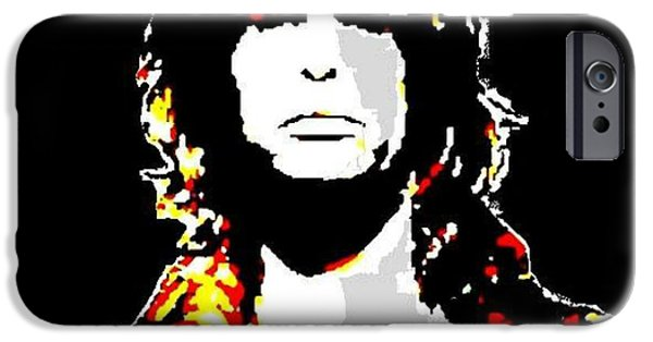 Steven Tyler Paintings iPhone Cases - Steven Tyler iPhone Case by Dave Gafford