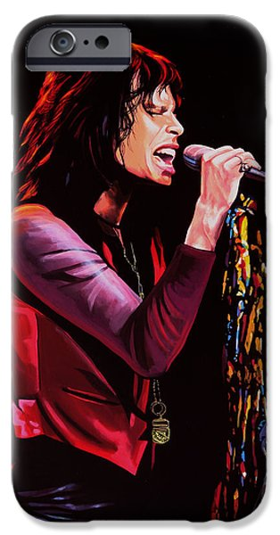 Toy iPhone Cases - Steven Tyler in Aerosmith iPhone Case by Paul  Meijering