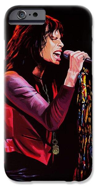 Steven Tyler in Aerosmith iPhone Case by Paul  Meijering
