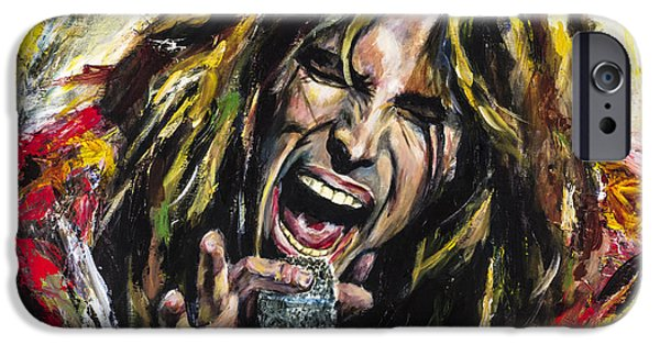 Celebrities Digital iPhone Cases - Steven Tyler iPhone Case by Mark Courage
