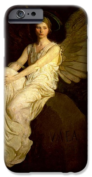 Smithsonian Paintings iPhone Cases - Stevenson Memorial iPhone Case by Abbott H Thayer