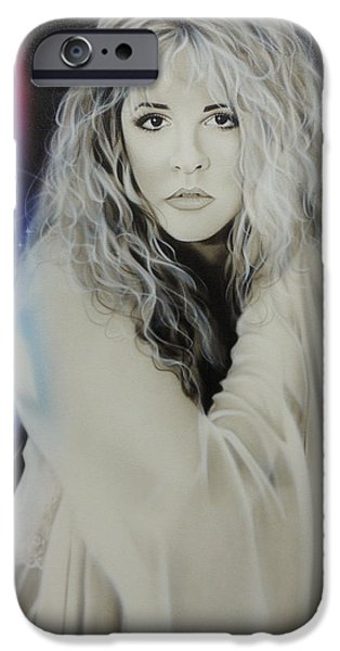 Musician Art iPhone Cases - Stevie Nicks iPhone Case by Christian Chapman Art