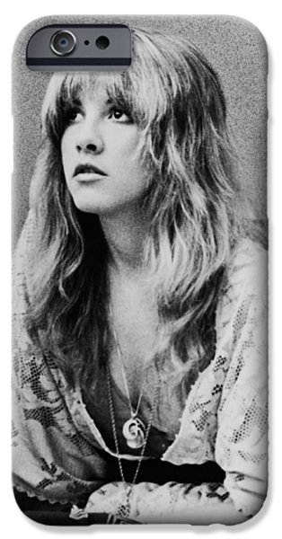American Photograph iPhone Cases - Stevie Nicks iPhone Case by Nomad Art And  Design