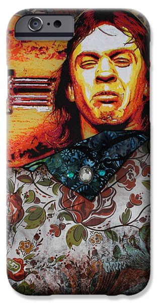 Street Mixed Media iPhone Cases - Stevie Ray iPhone Case by Gary Kroman