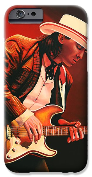 Rays Paintings iPhone Cases - Stevie Ray Vaughan iPhone Case by Paul  Meijering