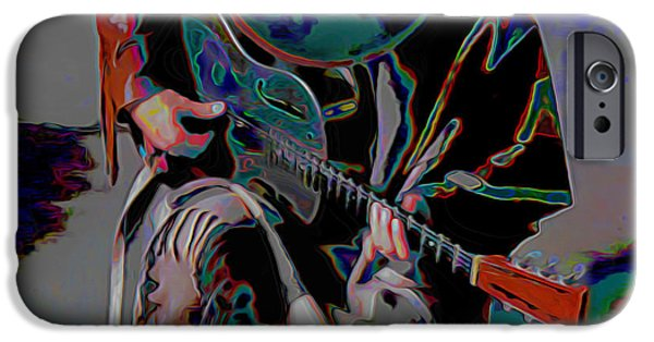 Modern Digital Art iPhone Cases - Stevie Ray Vaughan SRV iPhone Case by  Fli Art