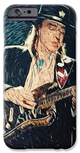B.b.king iPhone Cases - Stevie Ray Vaughan iPhone Case by Taylan Soyturk
