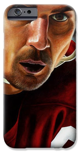 Hockey Paintings iPhone Cases - Stevie Y iPhone Case by Marlon Huynh