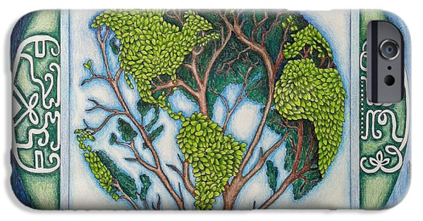 Honor iPhone Cases - Stewardship of the Earth iPhone Case by Arla Patch