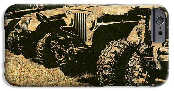 Jeep iPhone Cases - Sticks and Stones ... Wont Break My Bones iPhone Case by Luke Moore