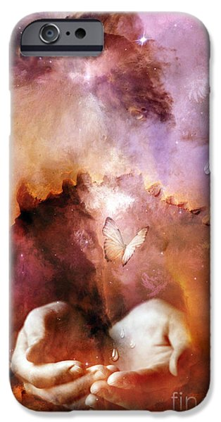Torn Mixed Media iPhone Cases - Still Connected iPhone Case by Photodream Art