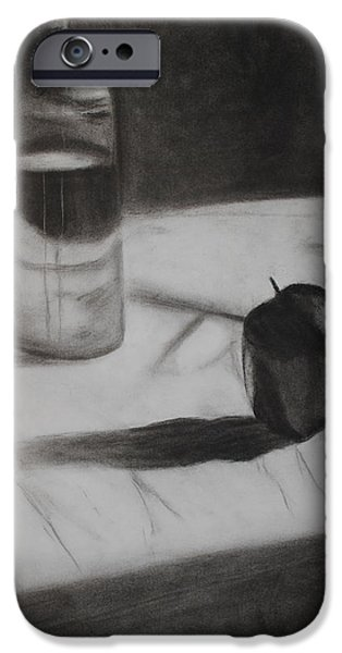 Table Wine Drawings iPhone Cases - Still iPhone Case by Leslie Ann Hammer