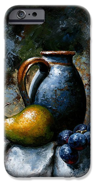 Pears iPhone Cases - Still life 24 iPhone Case by Emerico Imre Toth