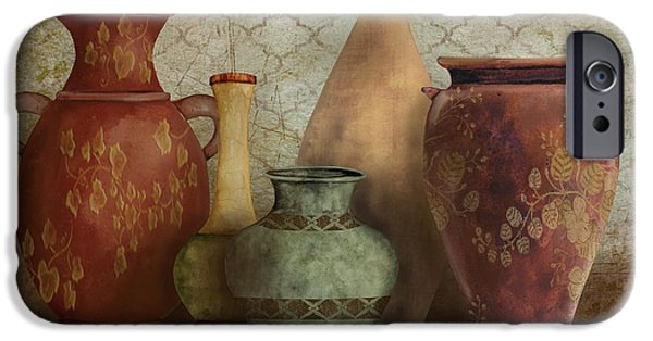 Pottery Pitcher iPhone Cases - Still Life-A iPhone Case by Jean Plout
