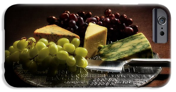 Blue Grapes iPhone Cases - Still Life iPhone Case by Amanda And Christopher Elwell