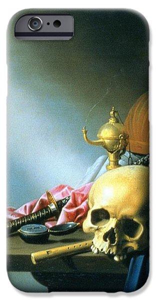 Still Life An Allegory of the Vanities of Human Life iPhone Case by Harmen van Steenwyck