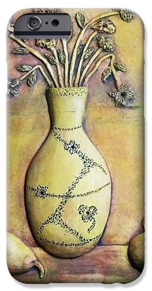 Pears Reliefs iPhone Cases - Still Life iPhone Case by Angelica Sepulveda