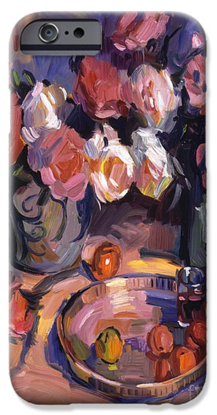 Wine Bottle iPhone Cases - Still Life Apres Manet iPhone Case by David Lloyd Glover