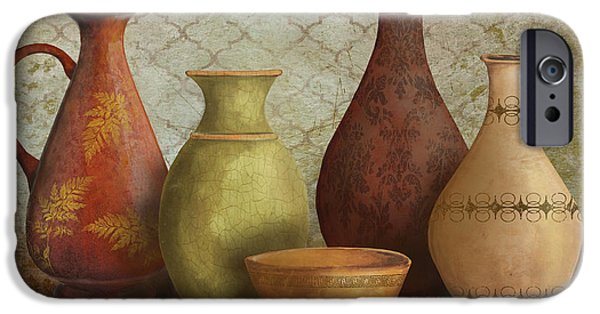 Pottery Pitcher iPhone Cases - Still Life-B iPhone Case by Jean Plout