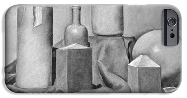 Wine Bottles Pastels iPhone Cases - Still Life iPhone Case by Britt Kuechenmeister