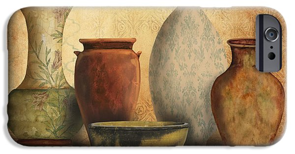 Pottery Pitcher iPhone Cases - Still Life-D iPhone Case by Jean Plout