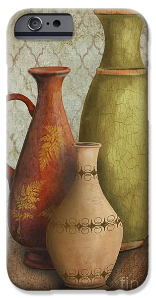 Pottery Pitcher iPhone Cases - Still Life-E iPhone Case by Jean Plout