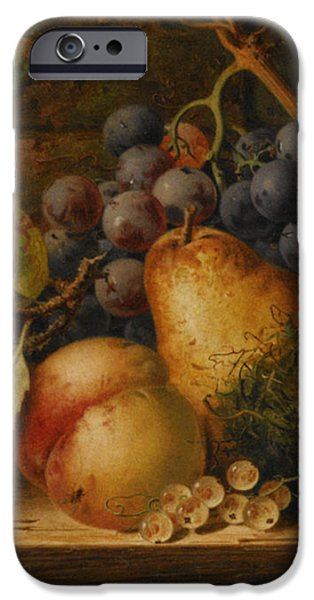 Still Life Grapes Pares Birds Nest iPhone Case by Edward Ladell