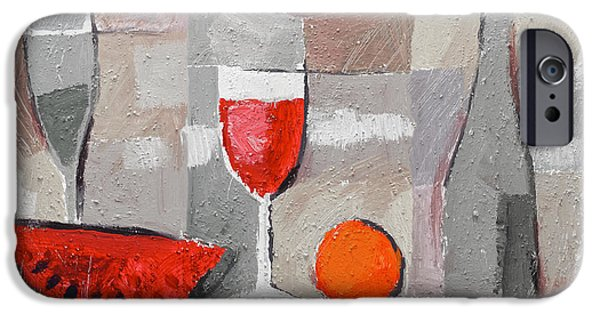 Table Wine iPhone Cases - Still Life Grey iPhone Case by Lutz Baar