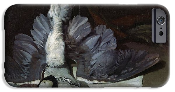 Impressionist Photographs iPhone Cases - Still-life Heron With Spread Wings, 1867 Oil On Canvas iPhone Case by Alfred Sisley