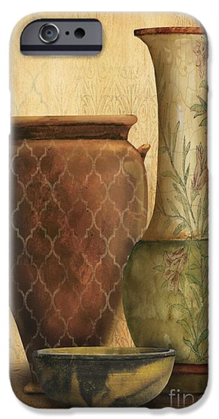 Pottery Pitcher iPhone Cases - Still Life-I iPhone Case by Jean Plout