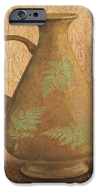 Pottery Pitcher iPhone Cases - Still Life-ID iPhone Case by Jean Plout