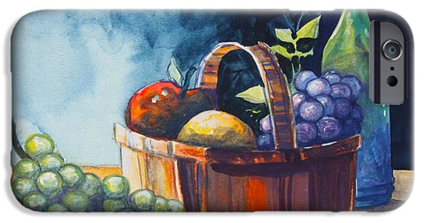 Table Wine iPhone Cases - Still Life in Watercolours iPhone Case by Karon Melillo DeVega