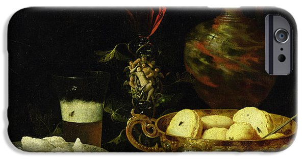 Still Life iPhone Cases - Still Life iPhone Case by Johann Georg Hinz