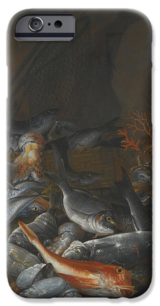 Still Life With Fish iPhone Cases - Still Life Of Assorted Fish iPhone Case by Celestial Images