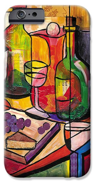 Jacob Lawrence iPhone Cases - Still Life of Fruit Wine and Cheese iPhone Case by Everett Spruill