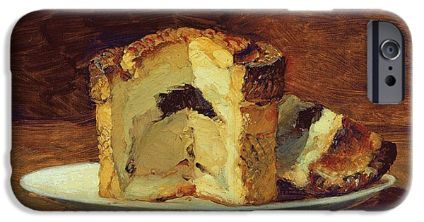 Slices iPhone Cases - Still Life Of Pie, 1884 Oil On Canvas iPhone Case by Guillaume Romain Fouace